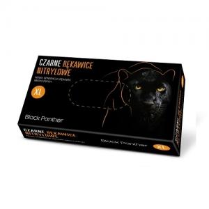 Rękawice nitrylowe czarne DOMAN Black Panther r. XL