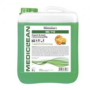 MEDICLEAN MC 110 Preparat do mycia i konserwacji podłóg 5L pomarańcza