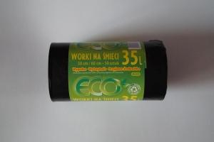 Worki na śmieci LDPE 35L a'50 czarne