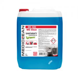 MEDICLEAN MC 320 Antybakteryjny żel do mycia i odkamieniania sanitariatów 5L