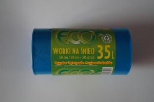 Worki na śmieci LDPE 35L a'50 niebieskie