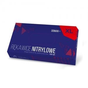 Rękawice nitrylowe niebieskie DOMAN+ r. XL