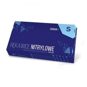 Rękawice nitrylowe niebieskie DOMAN+ r. S